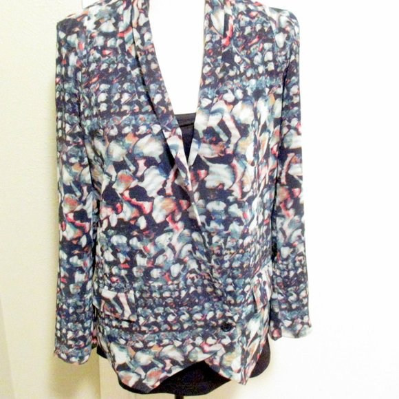 Anthropologie Jackets & Blazers - Anthropologie Watercolor Double-breasted Jacket S